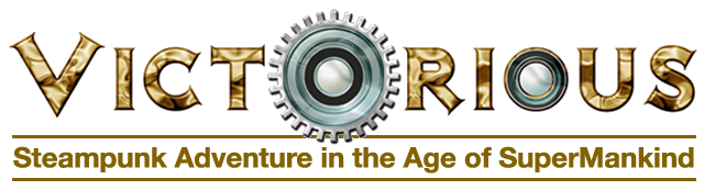 Victorious steampunk adventure in the age of super mankind logo