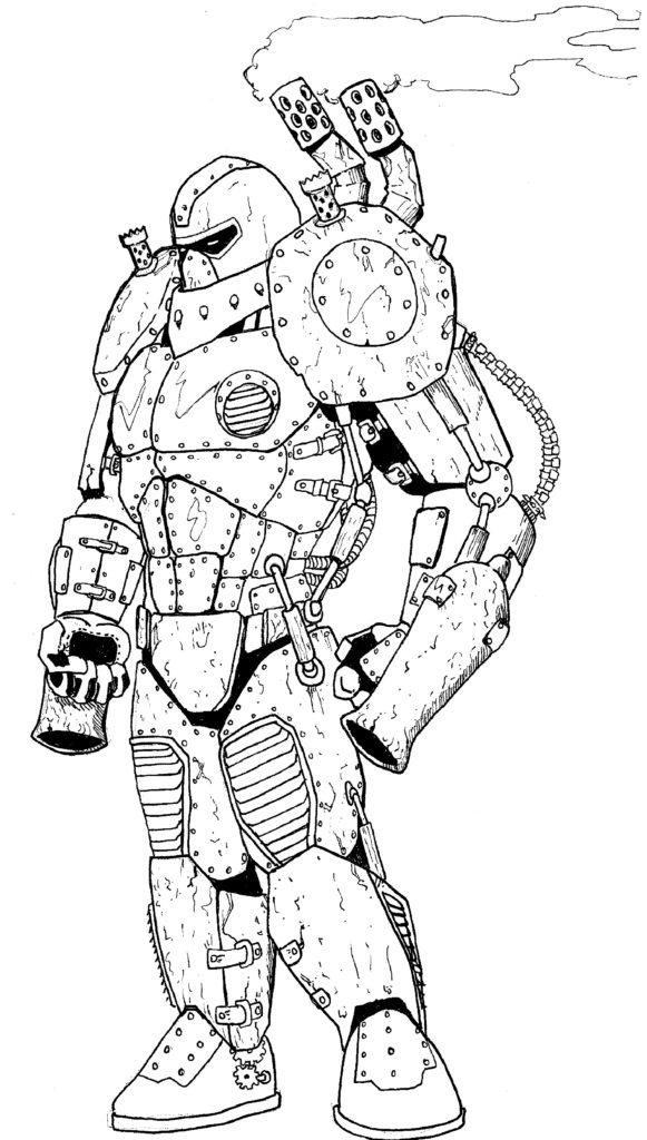 The steam-armored Victorian hero Blastbucket