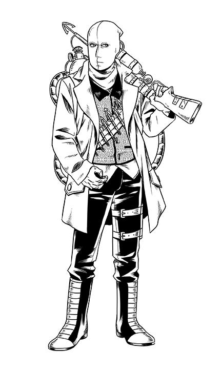 The Harpoonist, copyright Brent Nichols, art by Sarah White