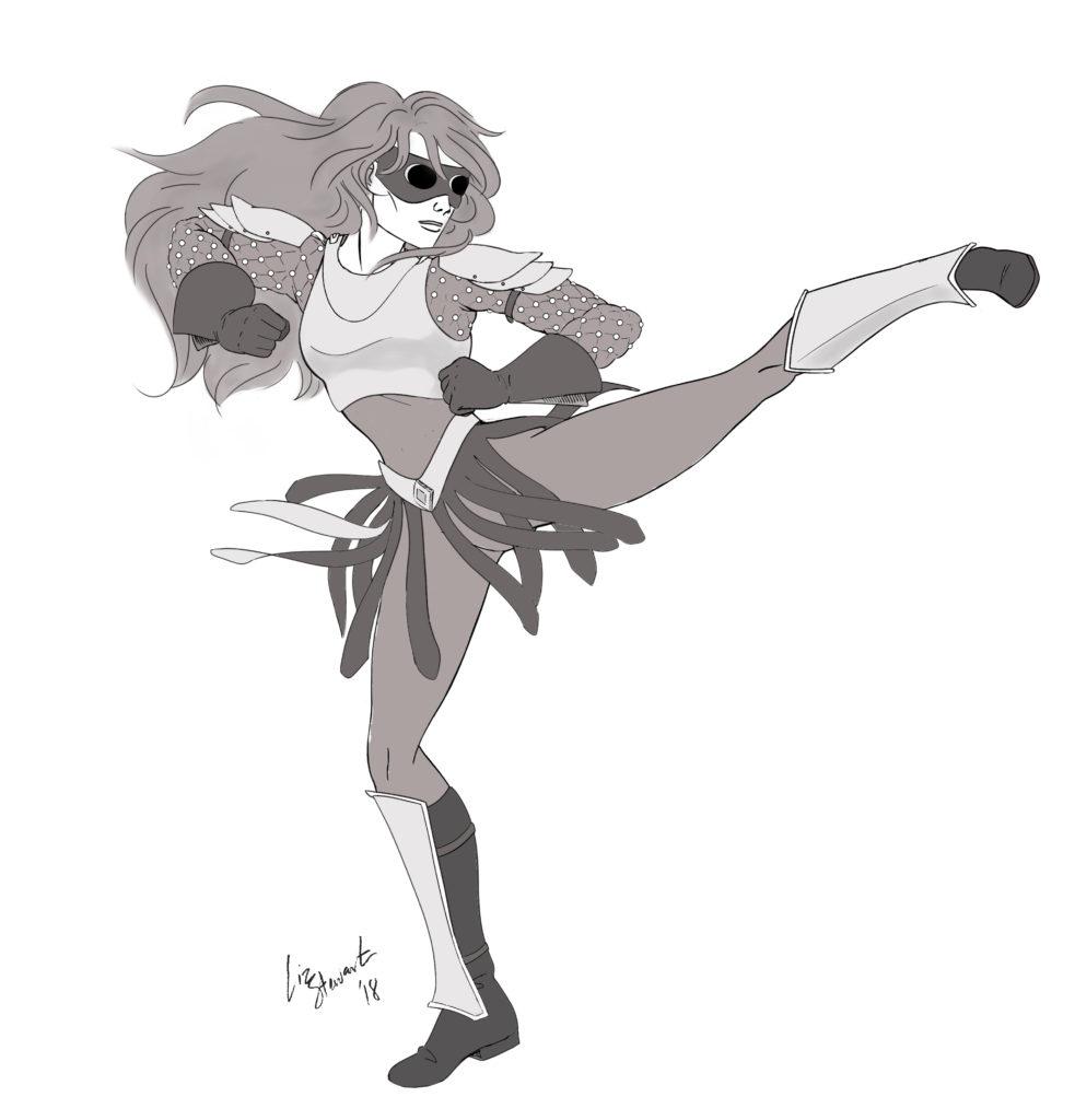 The Dancer, copyright Mike Stewart, art by Elizabeth Stewart