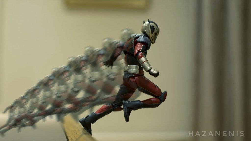 The hero Ant Man changing size