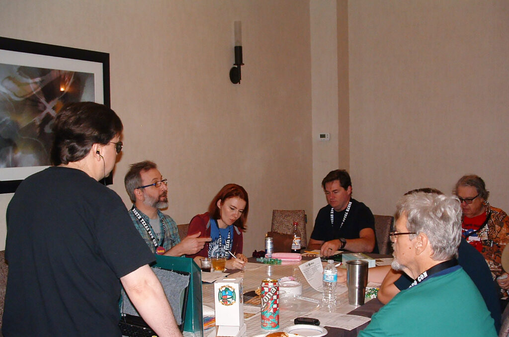 Players at a Victorious game session during North Texas RPG Convention 2019